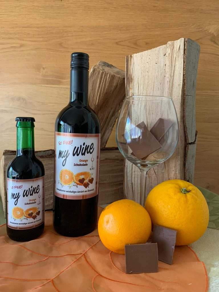 Foto MyWIne Orange Schoko rot